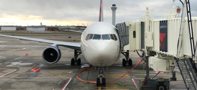 Photo of jet and control tower