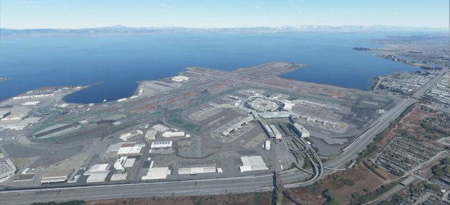 Screenshot of SFO in Flight Simulator 2020