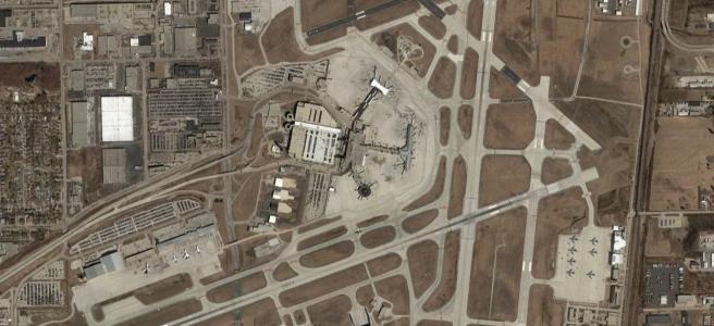 Google Earth imagery of MKE