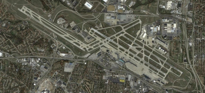 Google Earth imagery of STL
