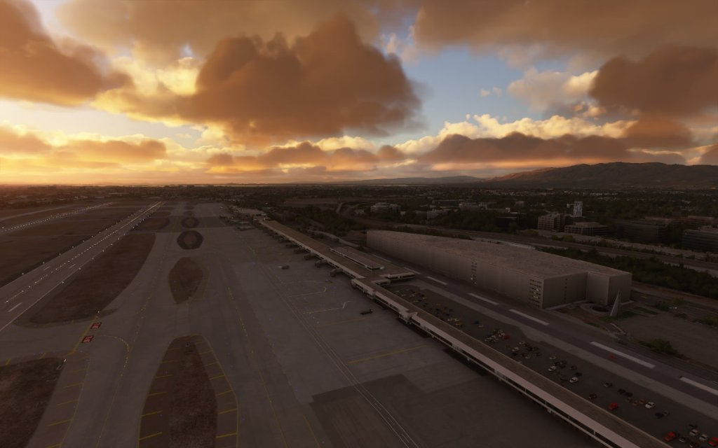 Screenshot of Flight Simulator 2020 showing SJC