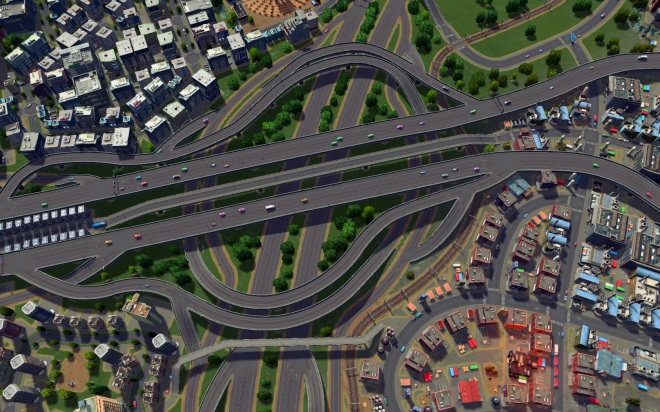 Traditional (two-highway, four-direction) turbine interchange