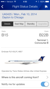 As an example, this flight was sold by United, but was actually operated by Trans States Airlines.