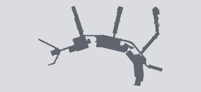 Terminal silhouette of SLC (Salt Lake City)