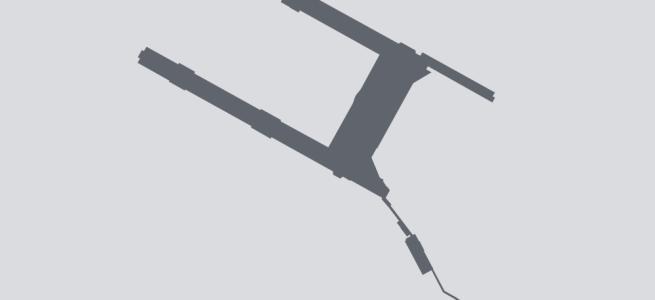 Terminal silhouette of PDX (Portland, Oregon)