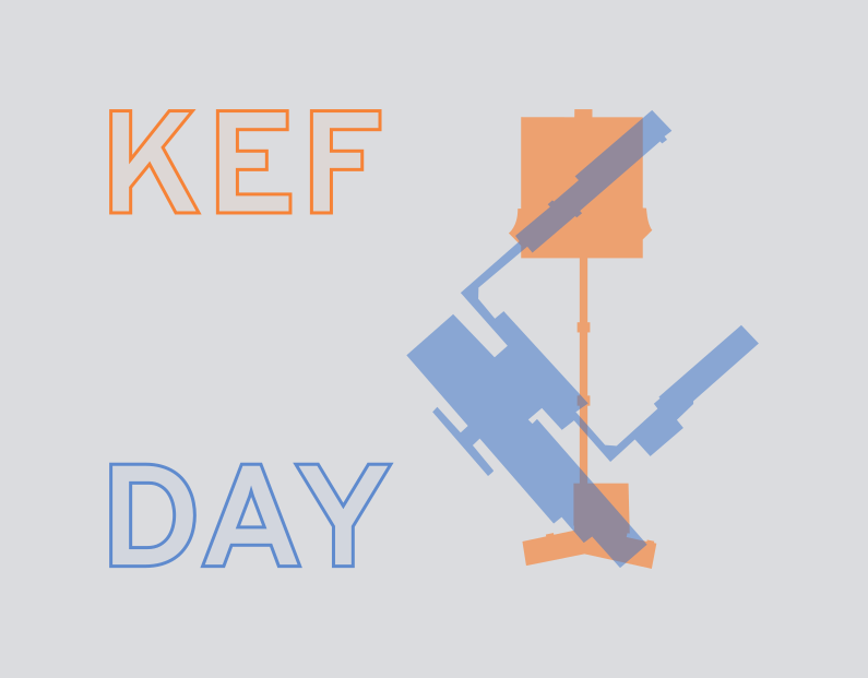 Size comparison showing that KEF and DAY have similar sized building footprints.