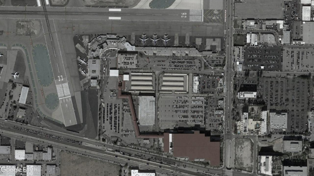 Satellite view of BUR airport.