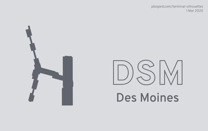 Terminal silhouette of DSM (Des Moines)