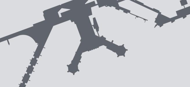 Terminal silhouette of FRA (Frankfurt)