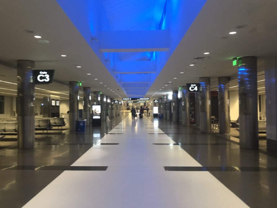 Photo of interior of concourse C at BHM