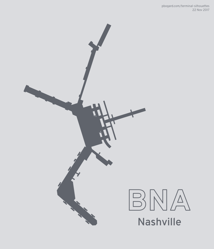 Terminal silhouette of BNA (Nashville)