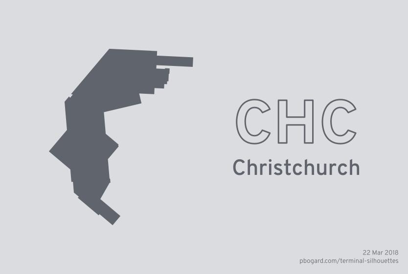 Terminal silhouette of CHC (Christchurch)