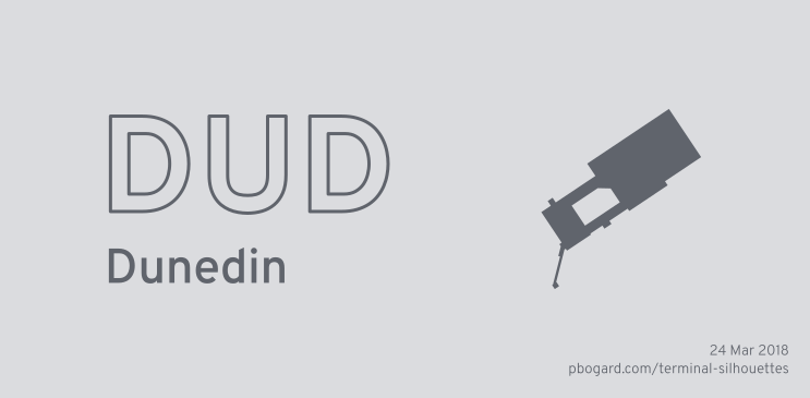Terminal silhouette of DUD (Dunedin)