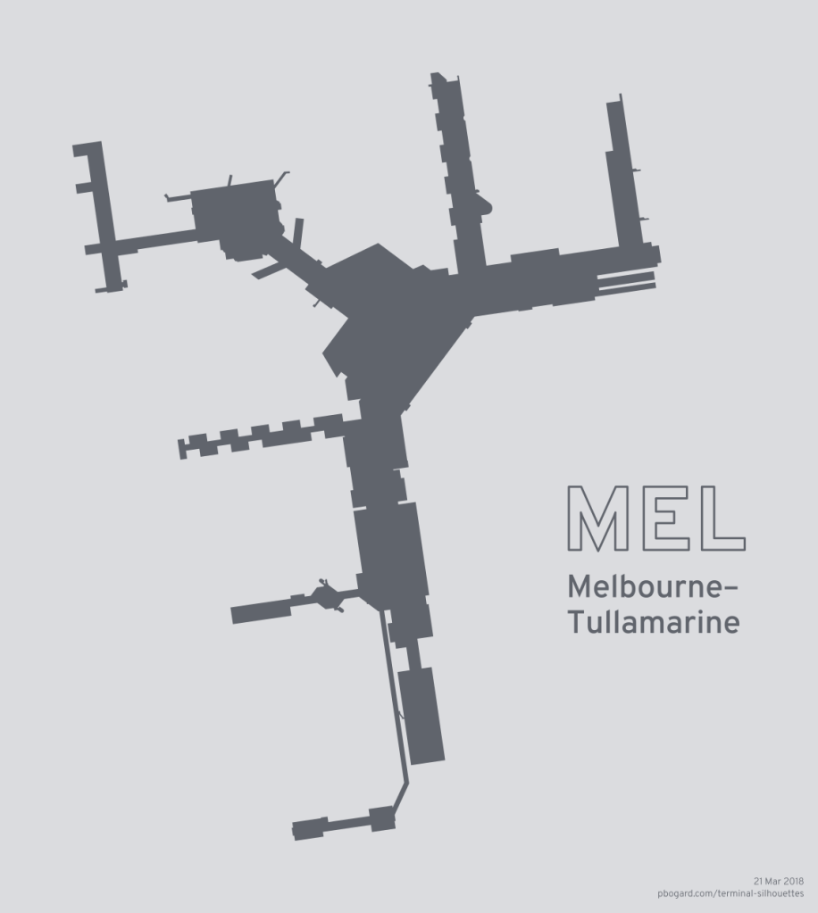 Terminal silhouette of MEL (Melbourne–Tullamarine)