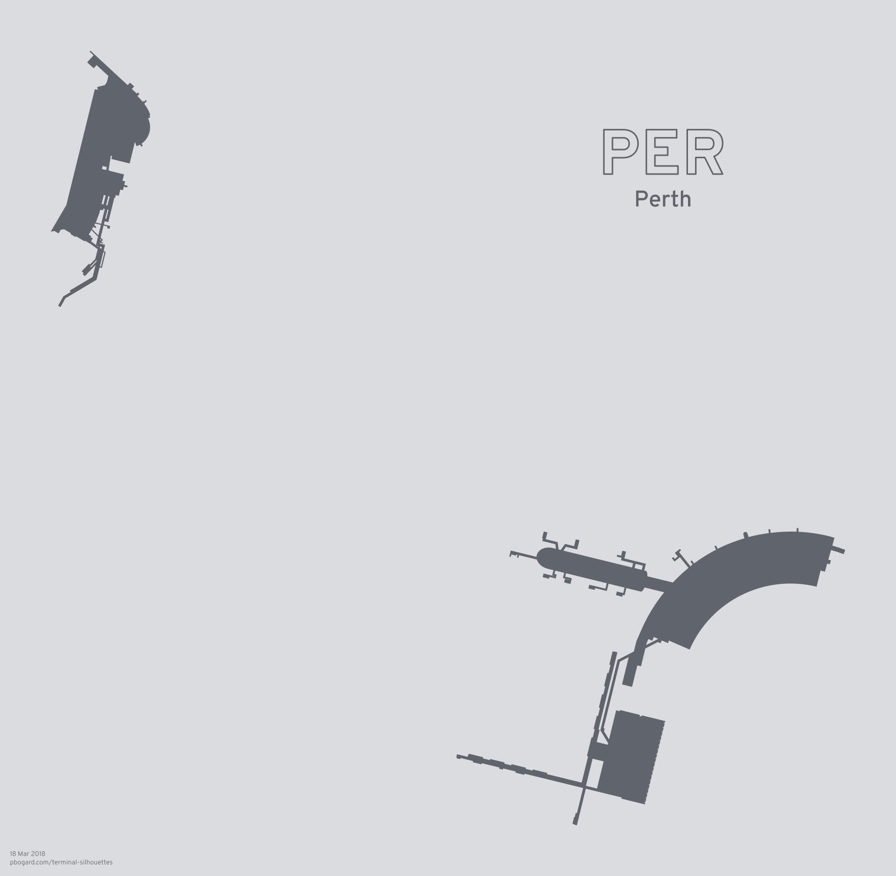 Terminal silhouette of PER (Perth)