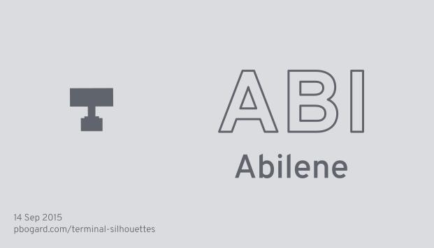 Terminal silhouette of ABI (Abilene)