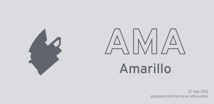 Terminal silhouette of AMA (Amarillo)