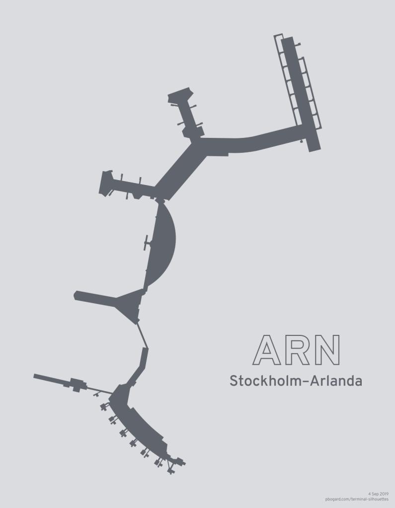Terminal silhouette of ARN (Stockholm-Arlanda)