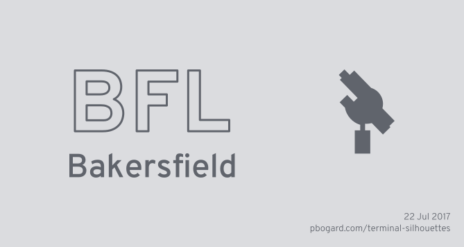 Terminal Silhouette of BFL (Bakersfield)