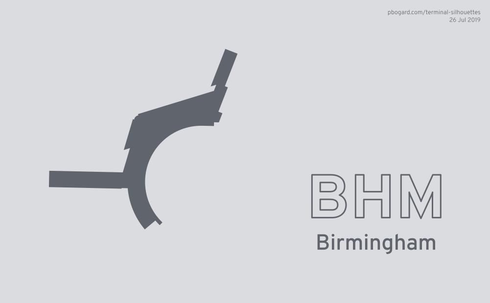 Terminal silhouette of BHM (Birmingham)