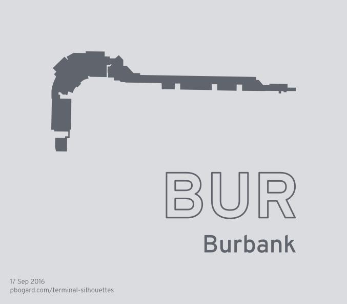 Terminal silhouette of BUR (Burbank)