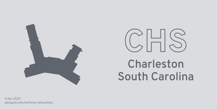 Terminal silhouette of CHS (Charleston, South Carolina)