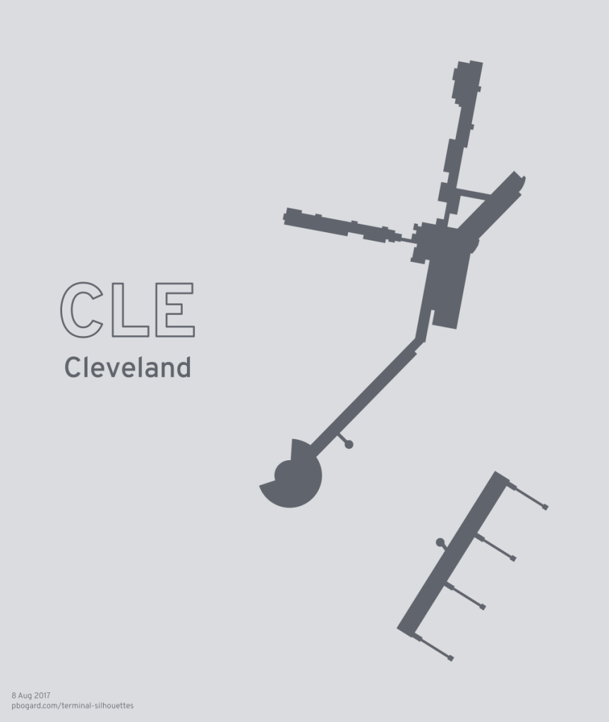 Terminal silhouette of CLE (Cleveland)