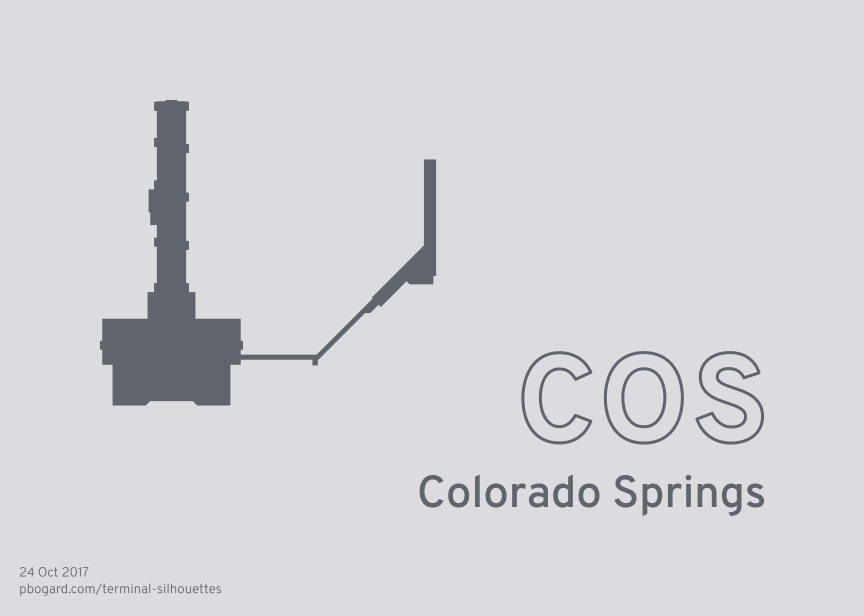 Terminal silhouette of COS (Colorado Springs)