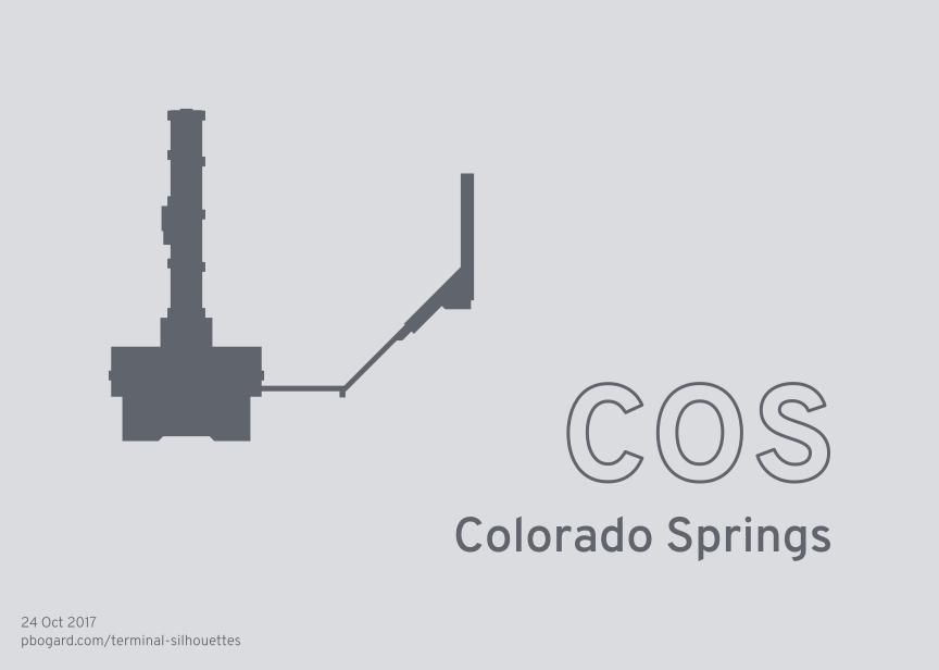 Terminal silhouette of COS (Colorado Springs)