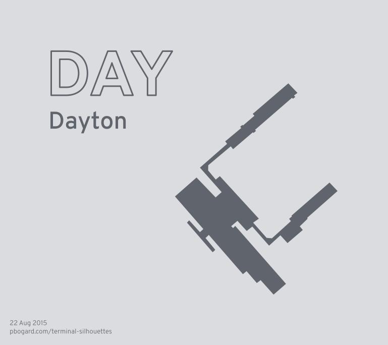 Terminal silhouette of DAY (Dayton)