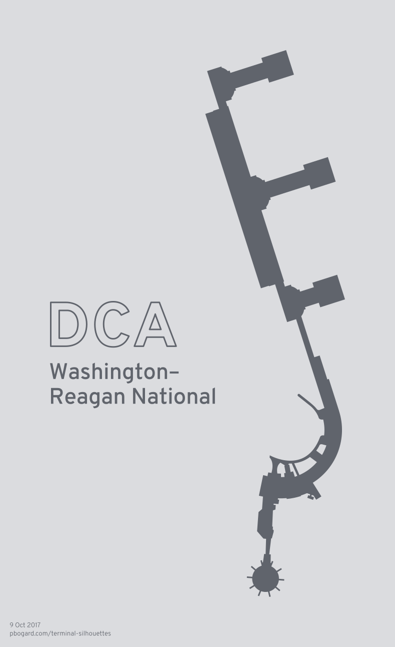 Terminal silhouette of DCA (Washington–Reagan National)