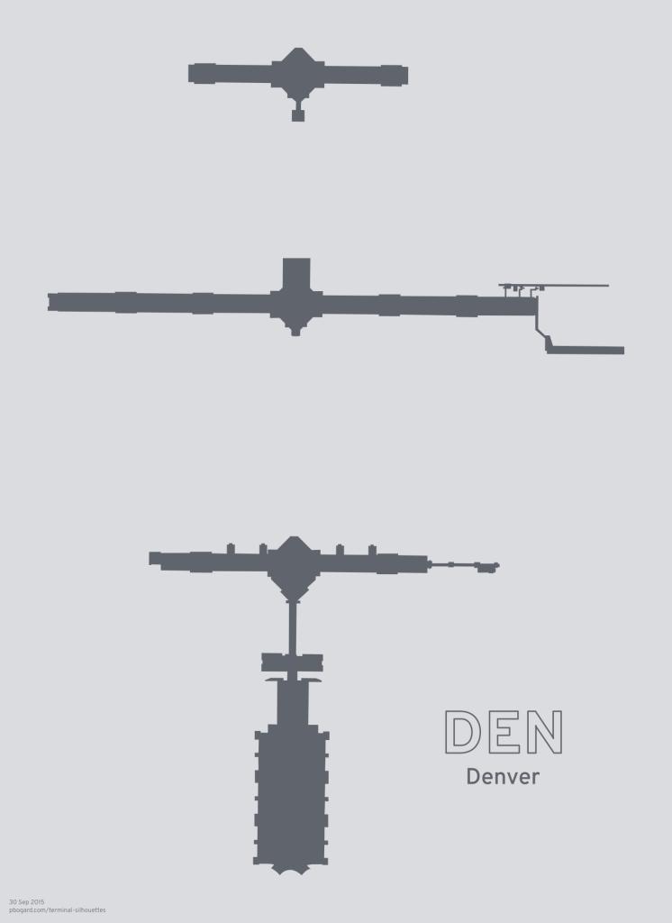 Terminal silhouette of DEN (Denver)