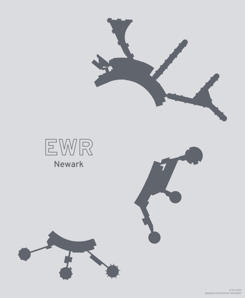 Terminal silhouette for EWR (Newark)