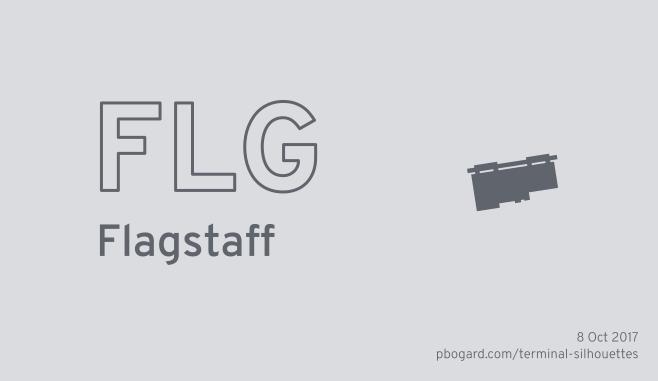 Terminal silhouette of FLG (Flagstaff)