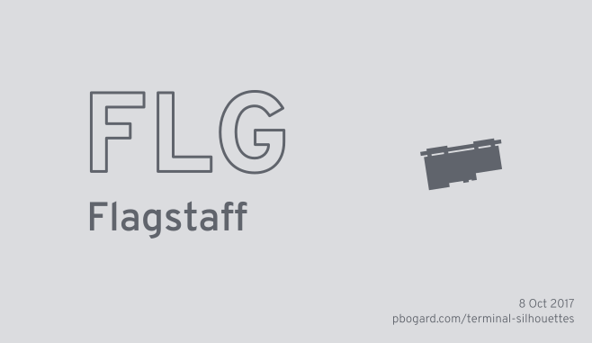 Terminal silhouette of FLG (Flagstaff)