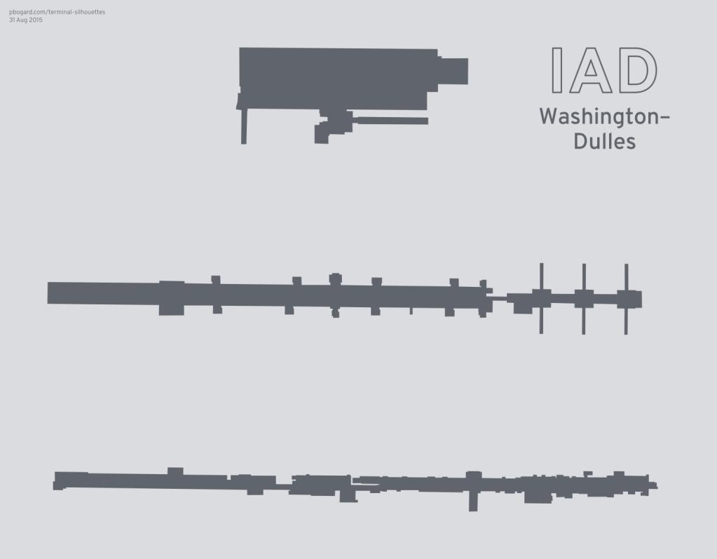 Terminal silhouette of IAD (Washington–Dulles)