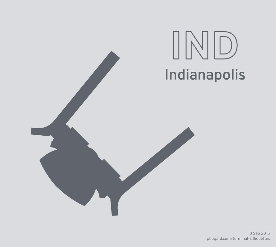 Terminal silhouette of IND (Indianapolis)