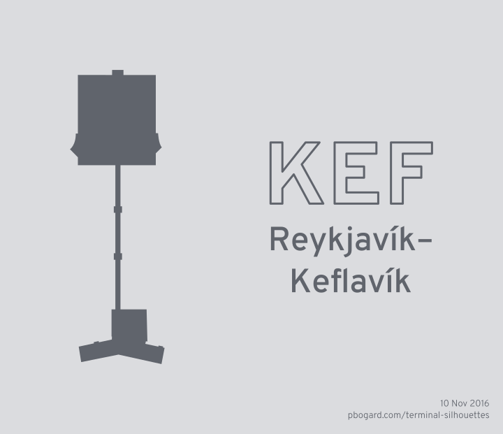 Terminal silhouette of KEF (Reykjavík–Keflavík)