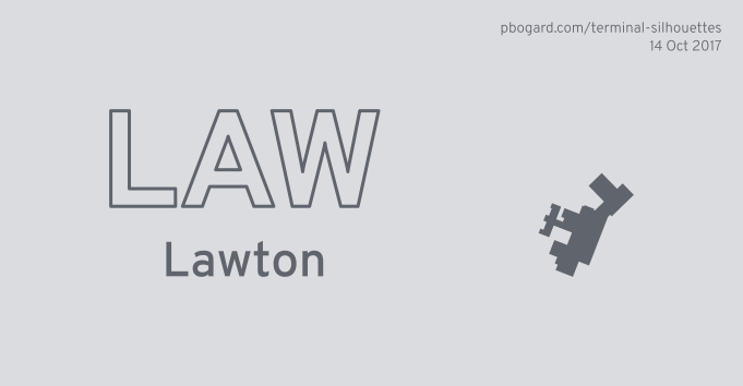 Terminal silhouette of LAW (Lawton)