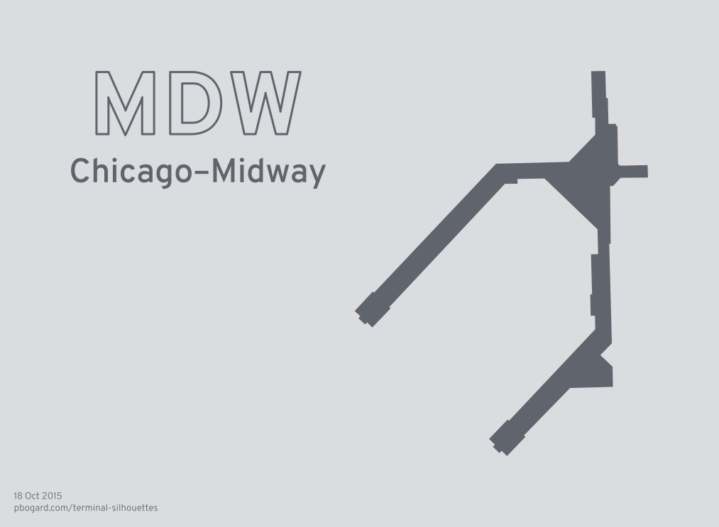 Terminal silhouette of MDW (Chicago–Midway)