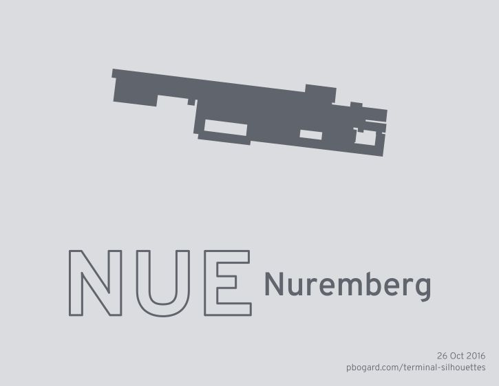 Terminal silhouette of NUE (Nuremberg)