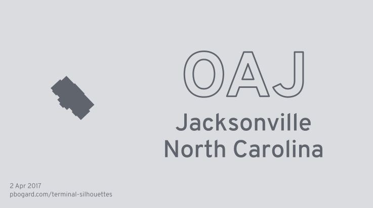Terminal silhouette of OAJ (Jacksonville, North Carolina)