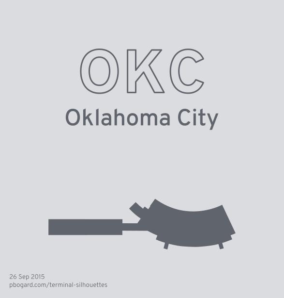 Terminal silhouette of OKC (Oklahoma City)