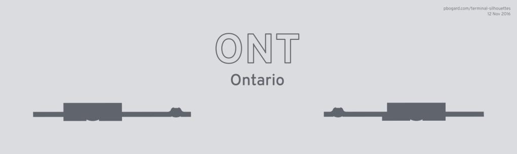 Terminal silhouette of ONT (Ontario)