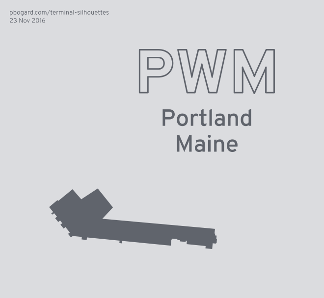 Terminal silhouette of PWM (Portland, Maine)