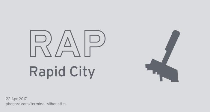 Terminal silhouette of RAP (Rapid City)