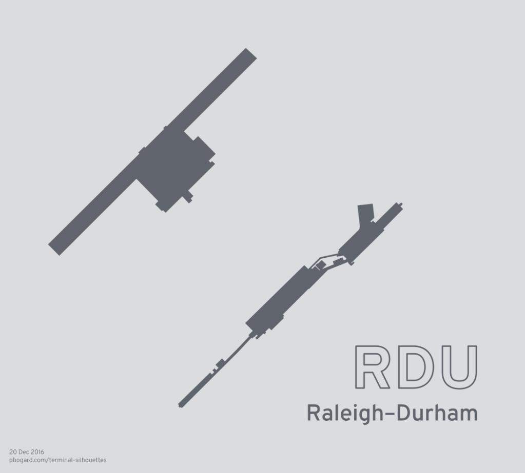 Terminal silhouette of RDU (Raleigh–Durham)