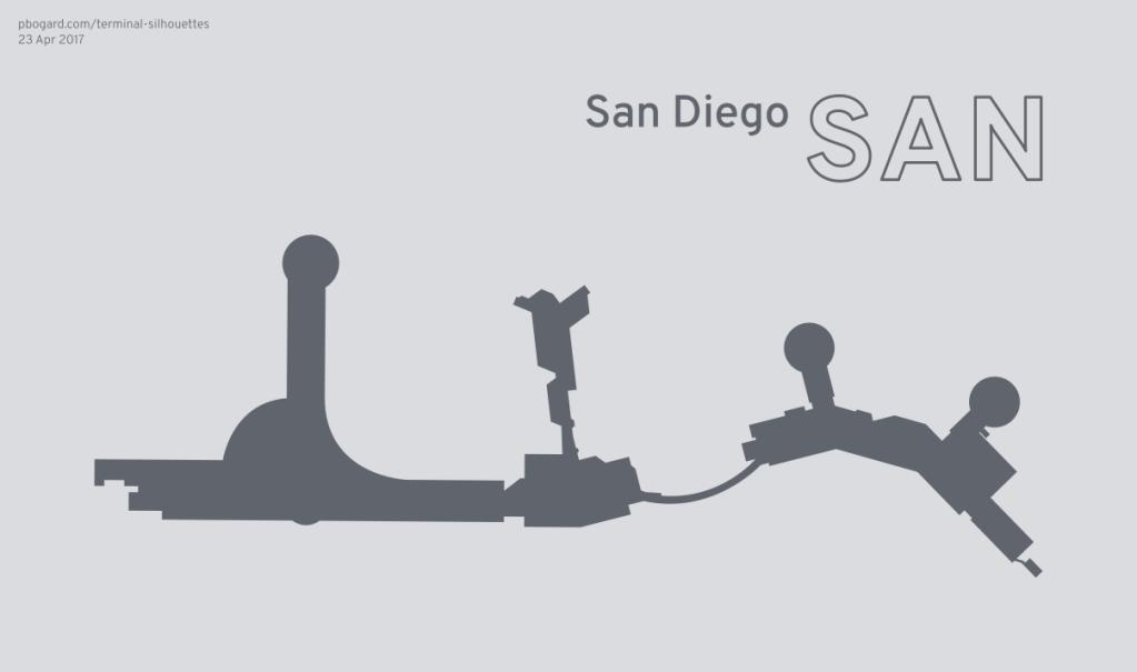 Terminal silhouette of SAN (San Diego)