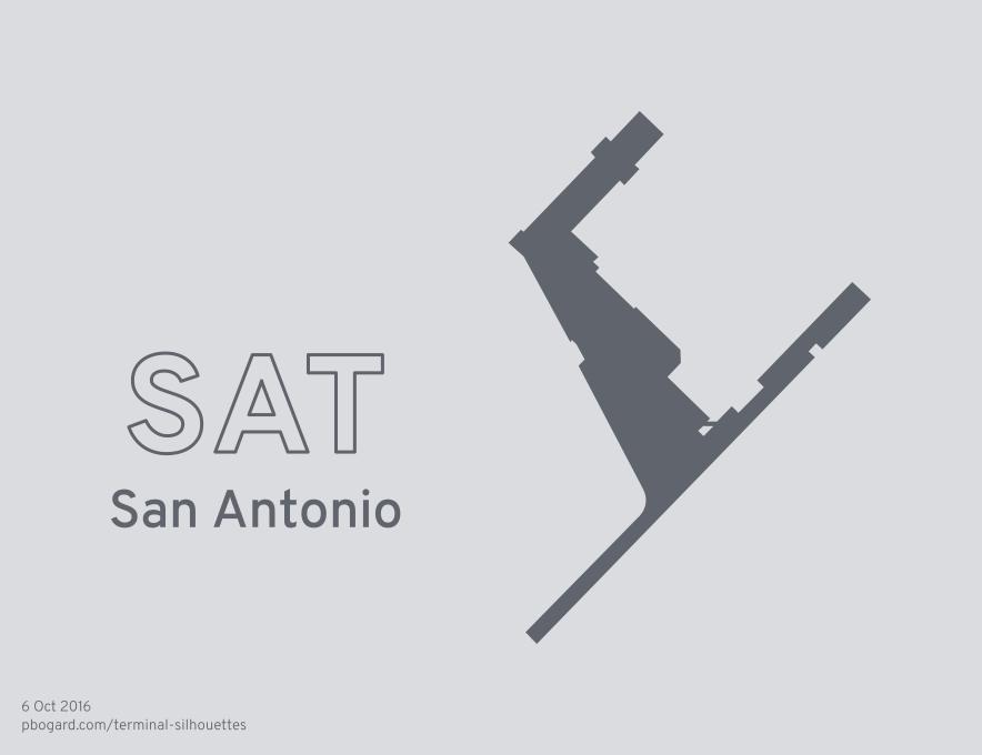 Terminal silhouette of SAT (San Antonio)