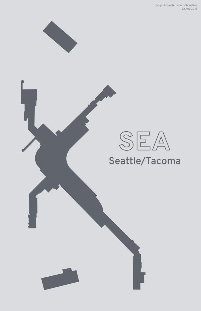 Terminal silhouette of SEA (Seattle/Tacoma)